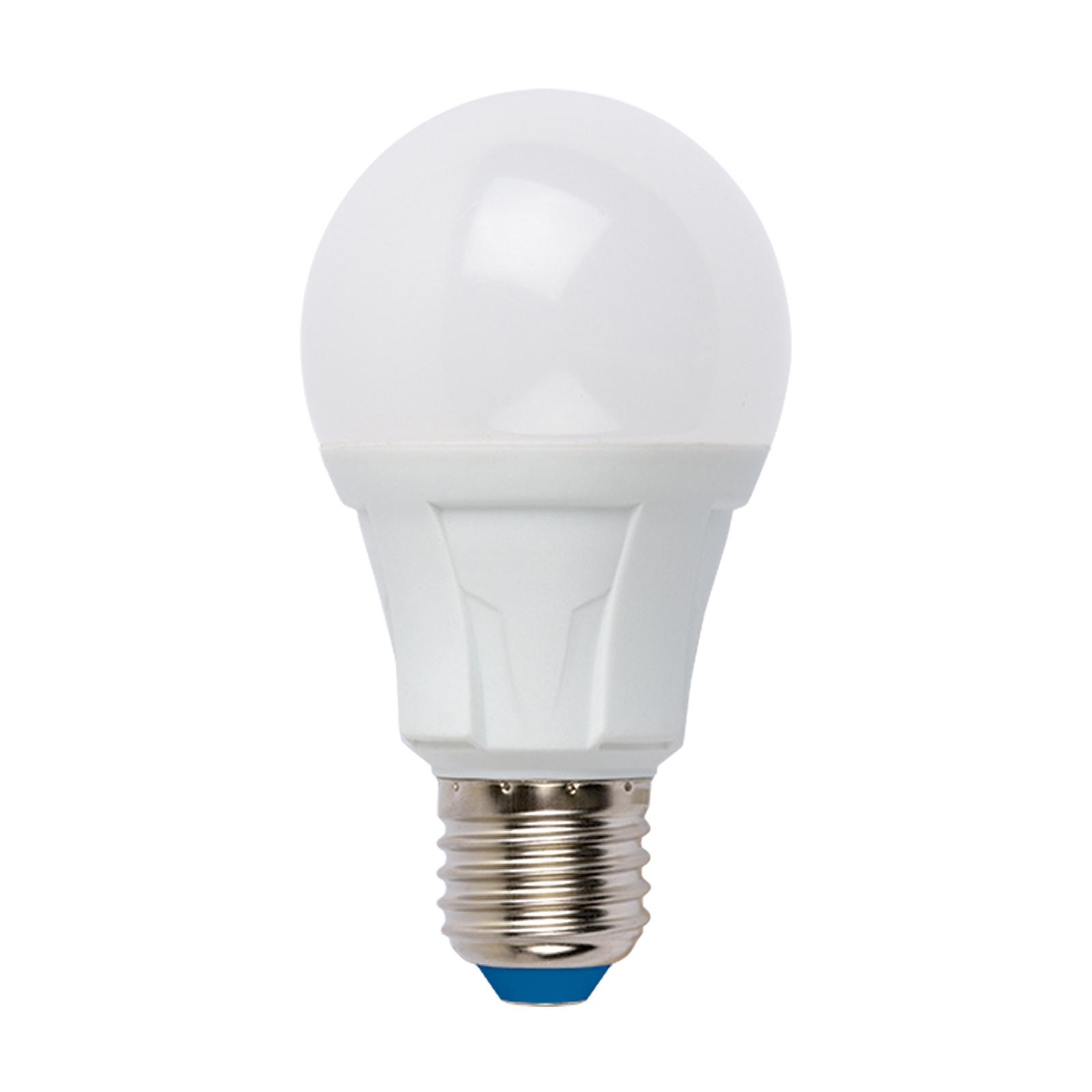 Лампочка Uniel LED-A60 8W/WW/E27/FR 3000K, Теплый свет 8 Вт, Светодиодная