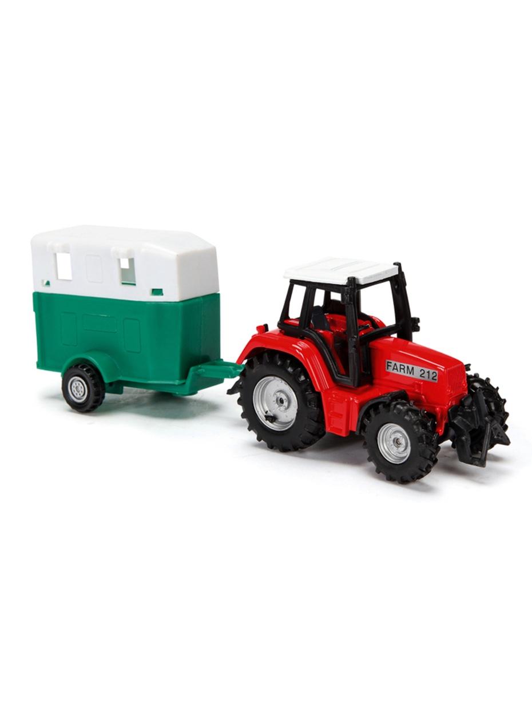 цены на Красный Трактор с прицепом, металл, 18см  в интернет-магазинах