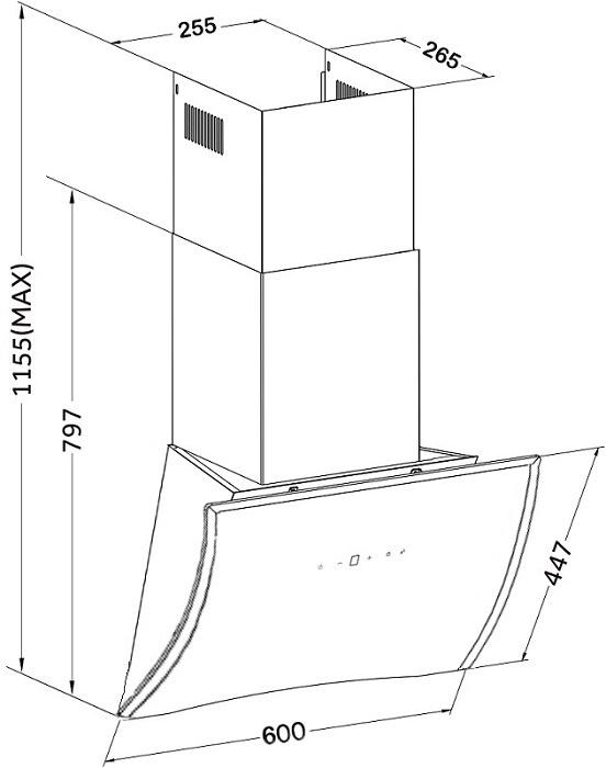 Вытяжка кухонная Germes Geneve (60см, белый) . ...