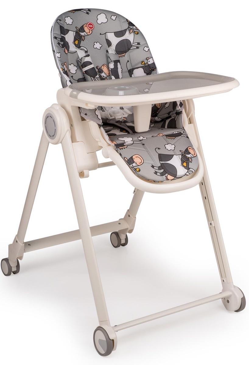 "Стул для кормления Happy baby ""BERNY BASIC"", до 25 кг, цвет: grey"