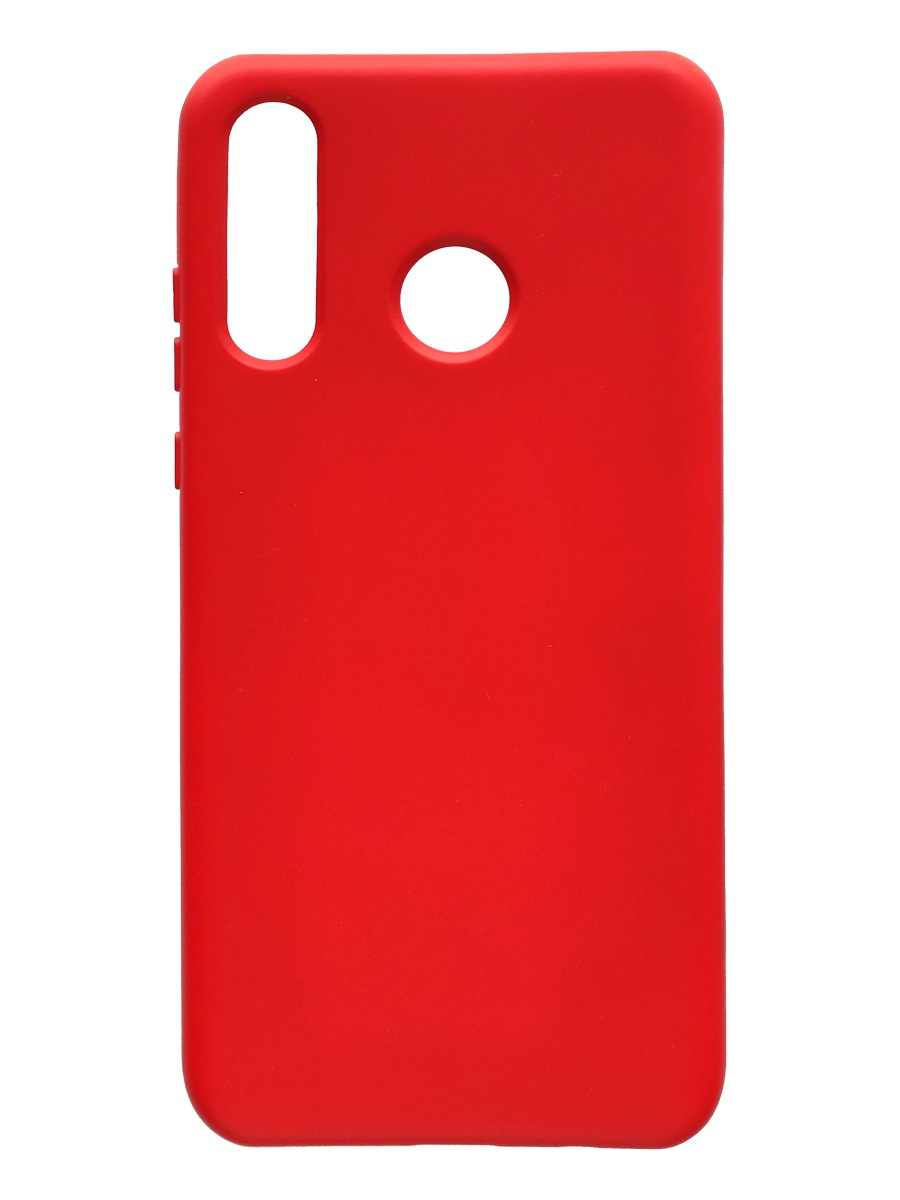 Чехол силиконовый Onext для телефона Huawei P30 Lite (2019), красный (liquid) чехол для huawei p30 onext прозрачный