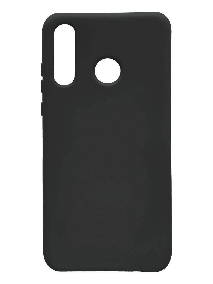 Чехол силиконовый Onext для телефона Huawei P30 Lite (2019), черный (liquid) чехол для huawei p30 onext прозрачный