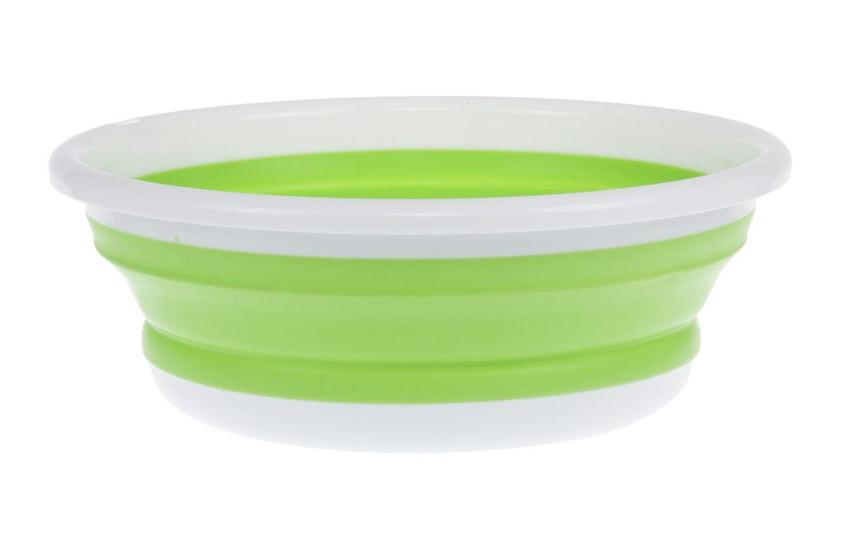 Таз силиконовый складной зеленый