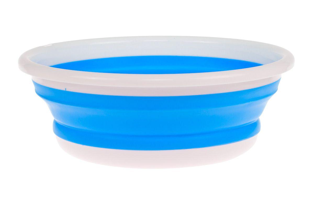 Таз силиконовый складной голубой