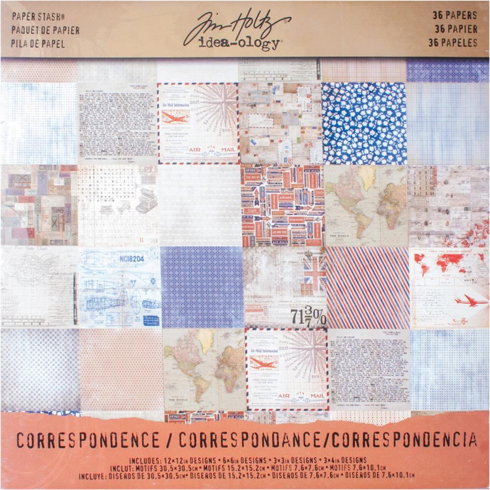 Набор бумаги для скрапбукинга Correspondence 30х30 см. (36 листов) набор для творчества набор бумаги для скрапбукинга р р 20 20 см 20 дизайнов 40 листов