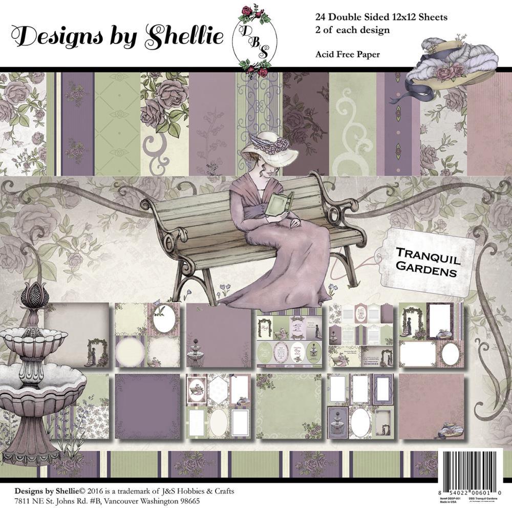 "Набор бумаги для скрапбукинга ""Tranquil Gardens"" (24 листа, 30х30 см.)"