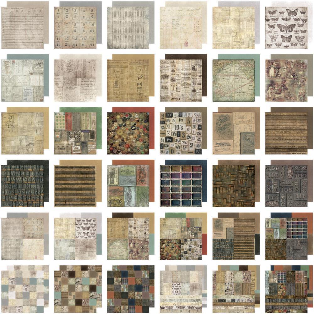 Набор бумаги для скрапбукинга Crowded Attic 30х30 см. (36 листов) набор для творчества набор бумаги для скрапбукинга р р 20 20 см 20 дизайнов 40 листов