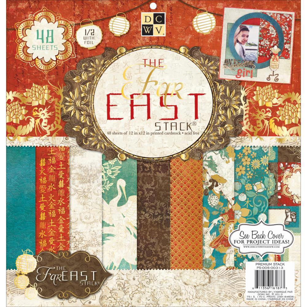 Набор бумаги для скрапбукинга Far East (30x30 см. 48 листов). набор для творчества набор бумаги для скрапбукинга р р 20 20 см 20 дизайнов 40 листов