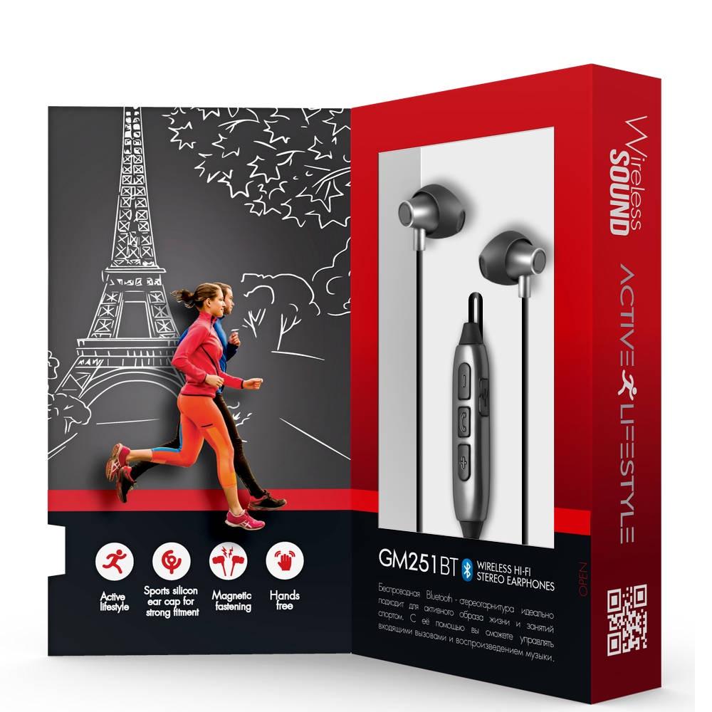 Беспроводные наушники Ginzzu Headphone GM-151BT беспроводная гарнитура наушники x7 rdbk для активного образа жизни