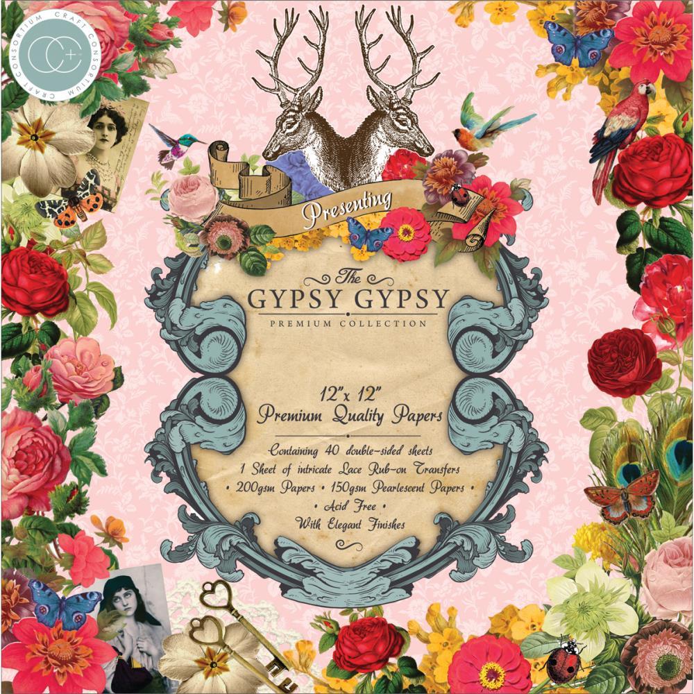 Набор бумаги для скрапбукинга Gypsy Gypsy (40 листов, 30х30 см.) набор для творчества набор бумаги для скрапбукинга р р 20 20 см 20 дизайнов 40 листов