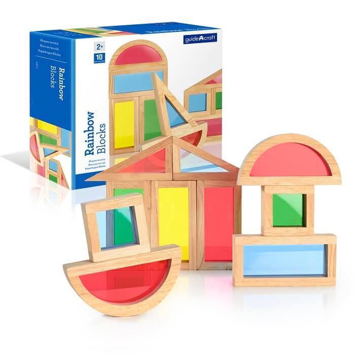 Guide Craft Сортер Rainbow Blocks Радужные блоки набор 10 деталей