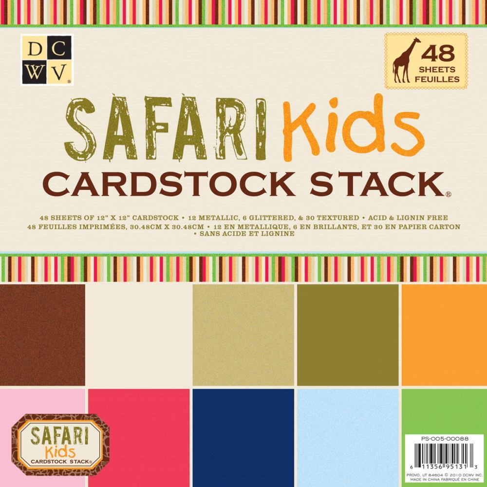 Набор бумаги для скрапбукинга Safari  30х30 см. (48 листов) набор для творчества набор бумаги для скрапбукинга р р 20 20 см 20 дизайнов 40 листов
