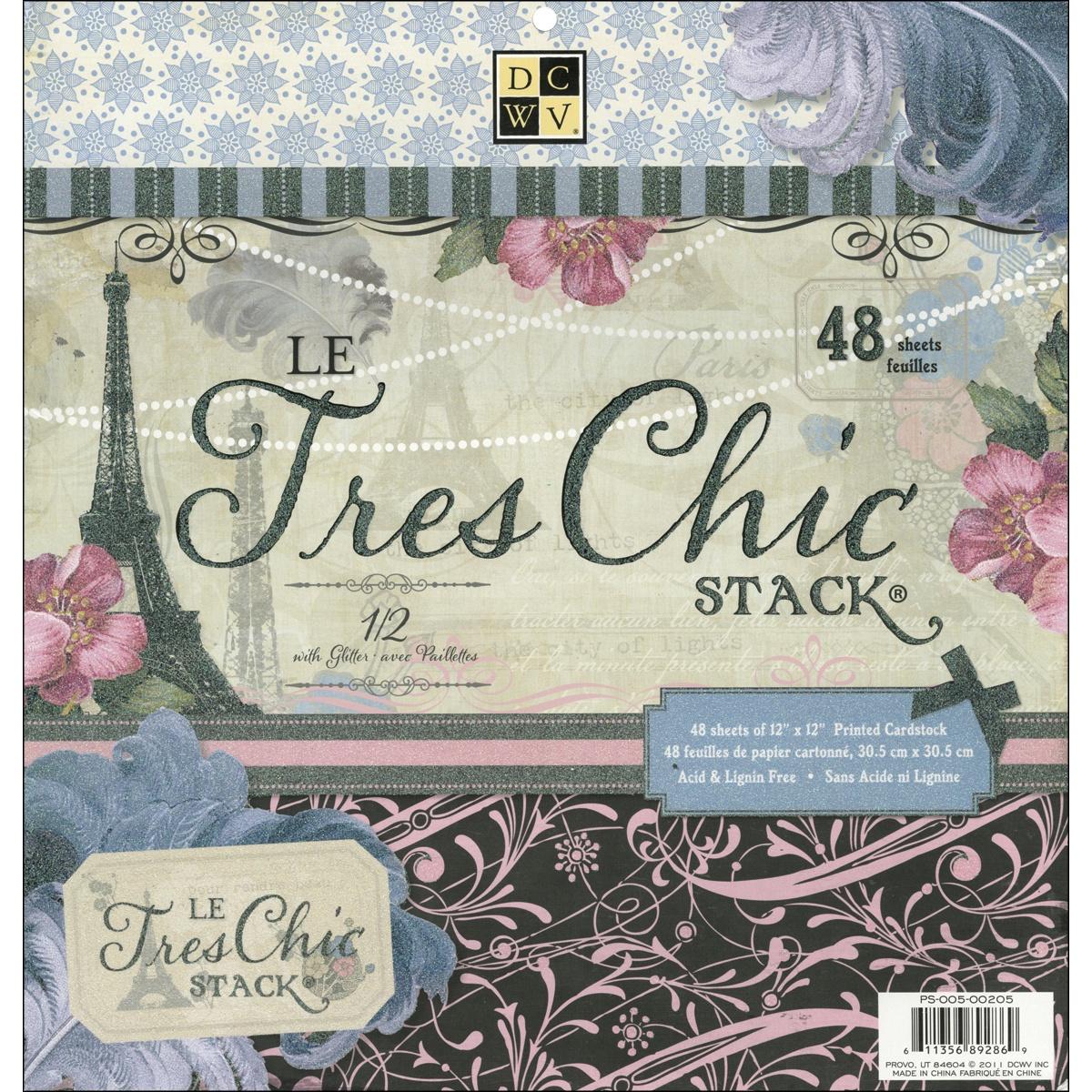 Набор бумаги для скрапбукинга Le Tres Chic  (48 листов, 30 х 30 см.) набор д творчества набор бумаги д скрапбукинга цветущее лето 30 5см 30 5см 017 sb