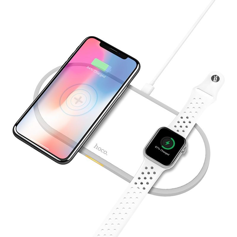 Фото - Беспроводное зарядное устройство для Apple Watch и IPhone беспроводное зарядное устройство тотем z 3818q05b 201804 белый