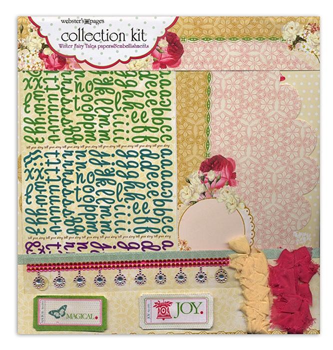 Набор бумаги для скрапбукинга Winter Fairy Tales (12 листов, 30х30 см.) набор для творчества набор бумаги для скрапбукинга р р 20 20 см 20 дизайнов 40 листов