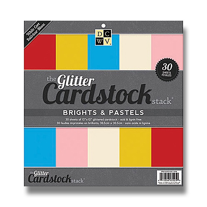 Набор бумаги для скрапбукинга Glitter Solid Brights & Pastels  (30х30 см., 30 листов) набор для творчества набор бумаги для скрапбукинга р р 20 20 см 20 дизайнов 40 листов