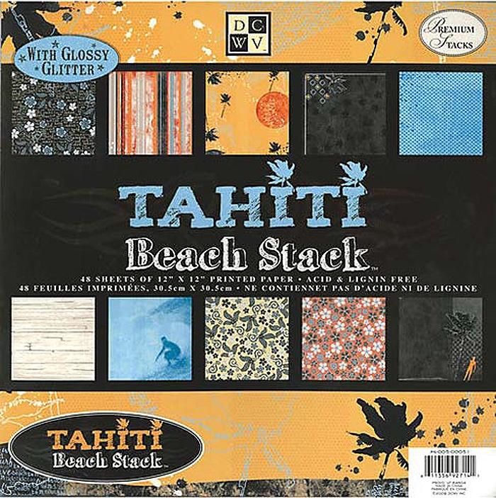"""Набор бумаги для скрапбукинга """"Tahiti Beach"""" (48 листов, 30х30 см.)"""