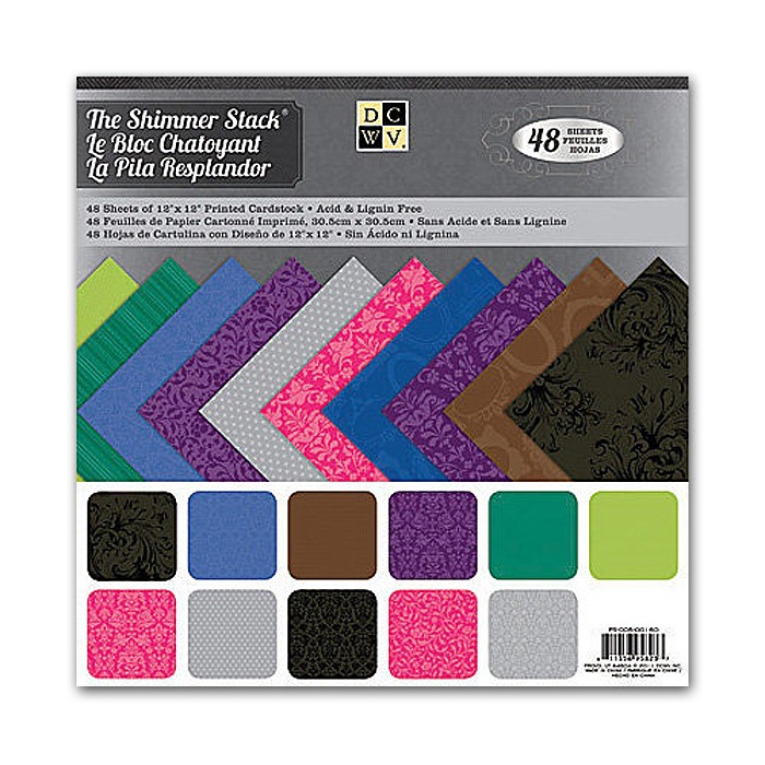 Набор бумаги для скрапбукинга Shimmer Printed  (48 листов, 30 х 30 см.) набор д творчества набор бумаги д скрапбукинга цветущее лето 30 5см 30 5см 017 sb