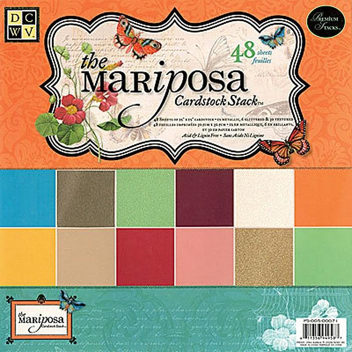 """Набор бумаги для скрапбукинга """"Mariposa Solid"""" (48 листов, 30х30 см.)"""