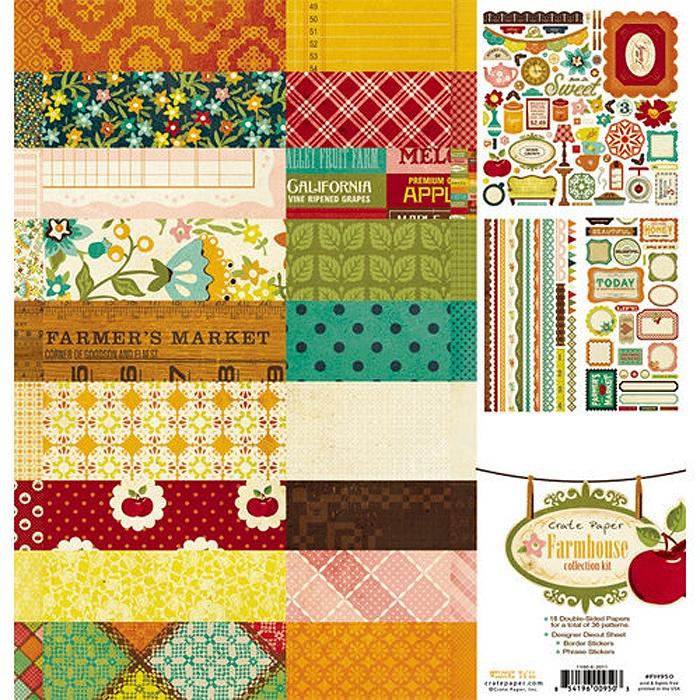 Набор бумаги для скрапбукинга Farmhouse. 18 листов, 30х30 см. набор для творчества набор бумаги для скрапбукинга р р 20 20 см 20 дизайнов 40 листов