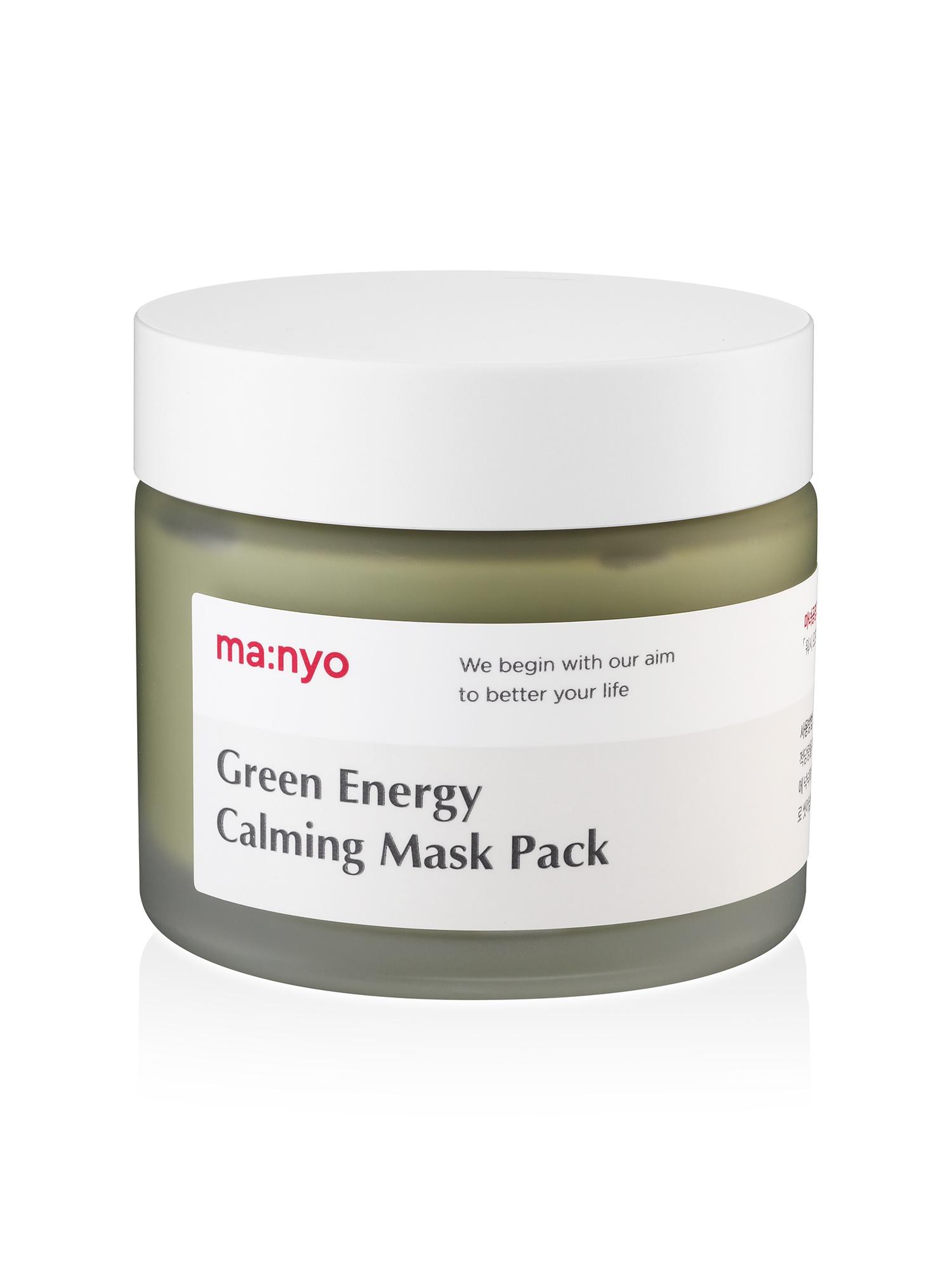 Успокаивающая маска для лица с экстрактом зеленого чая Manyo Green energy calming mask pack