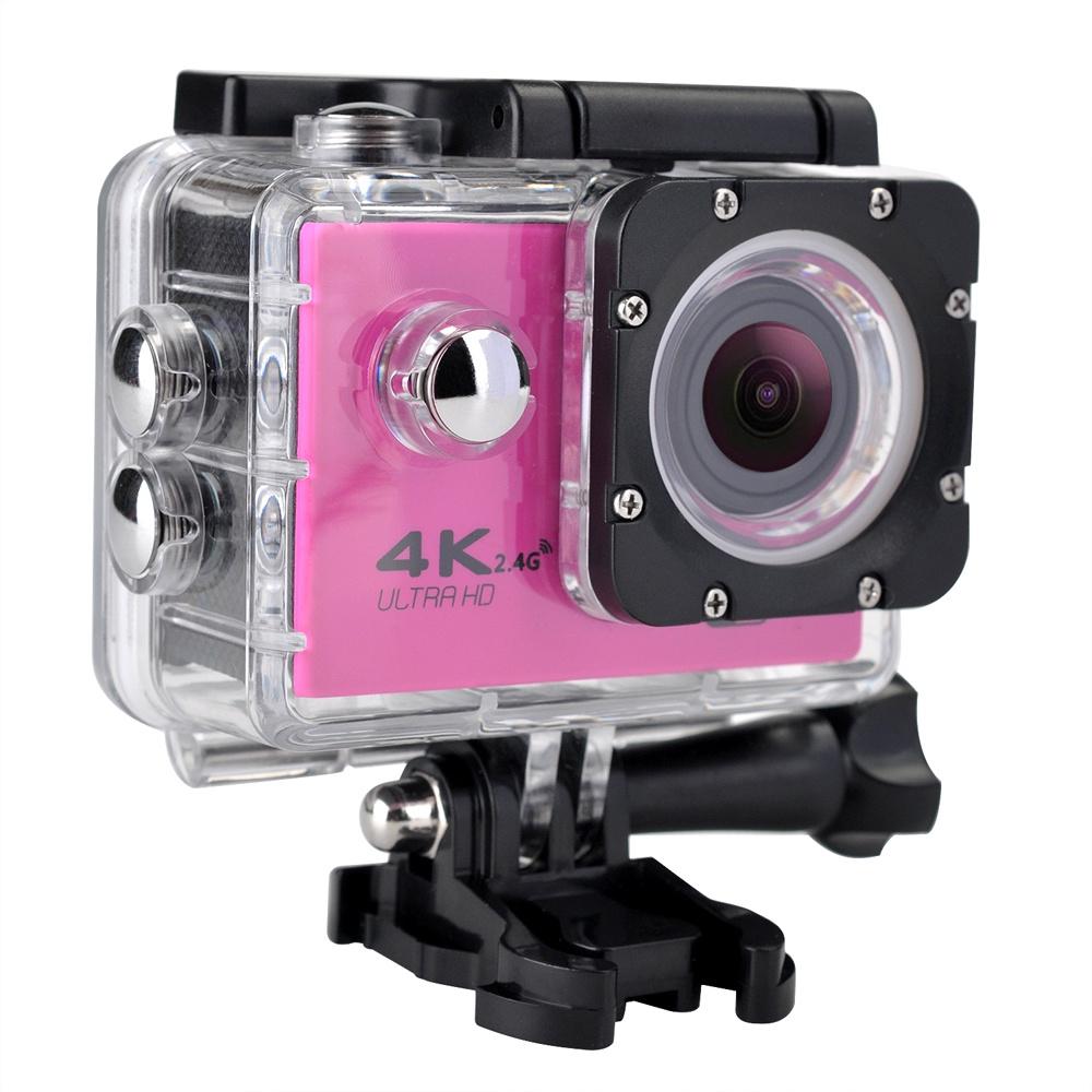 F60R 4K WIFI Full HD1080P Экшн-камера Водонепроницаемая 30M 120 градусов Широкоугольный Спорт DV Mini 2in ЖК-экран для экстремальных видов спорта Розовый