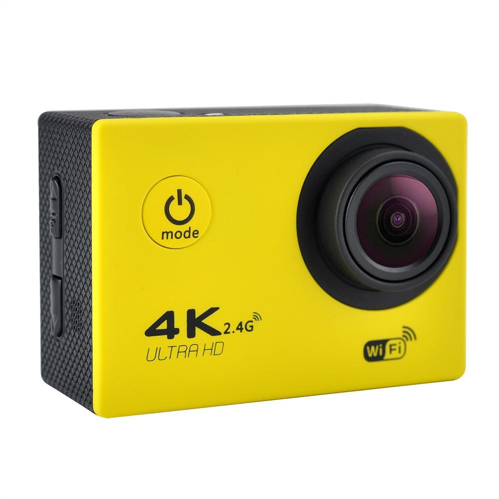 F60R 4K WIFI Full HD1080P Экшн-камера Водонепроницаемый 30M 120 градусов Широкоугольный Спорт DV Mini 2in ЖК-экран для экстремальных видов спорта на открытом воздухе Желтый