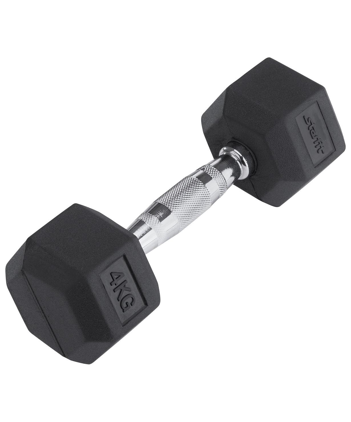 Гантель обрезиненная STARFIT DB-301 4 кг, черная