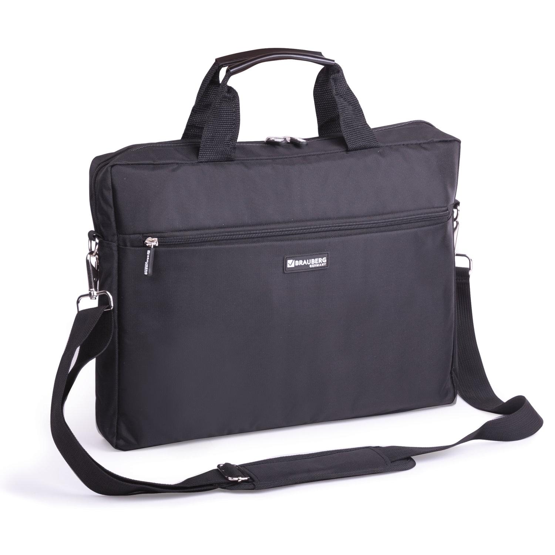 Сумка деловая BRAUBERG Tempo, 30х40х4 см, отделение для планшета и ноутбука черная 17 3 сумка для ноутбука hewo s 357bk нейлоновая черная
