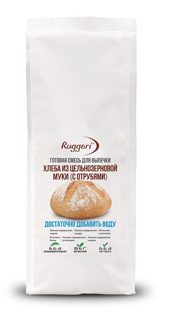 Готовая смесь Ruggeri для выпечки хлеба из цельнозерновой муки (с отрубями) 500 г смесь для выпечки ruggeri хлеб