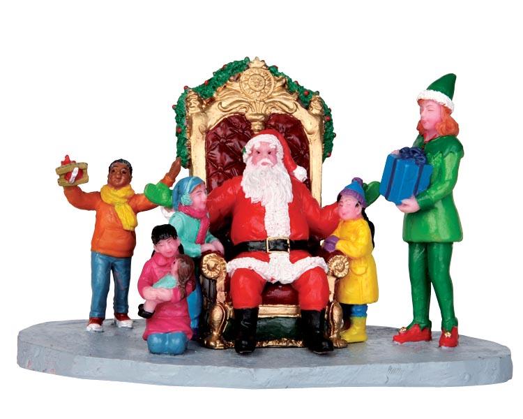 Статуэтка LEMAX Санта с детьми