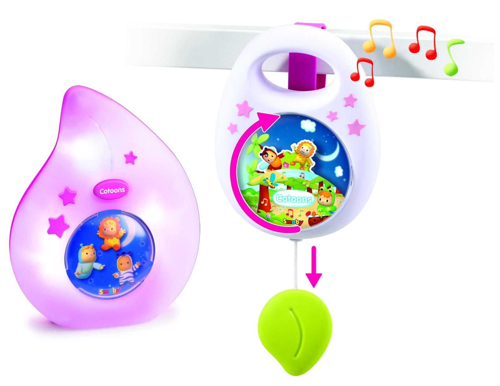 Фото - Набор для сна Cotoons: Музыкальная подвеска и ночничок розовый smoby ночник cotoons цвет розовый