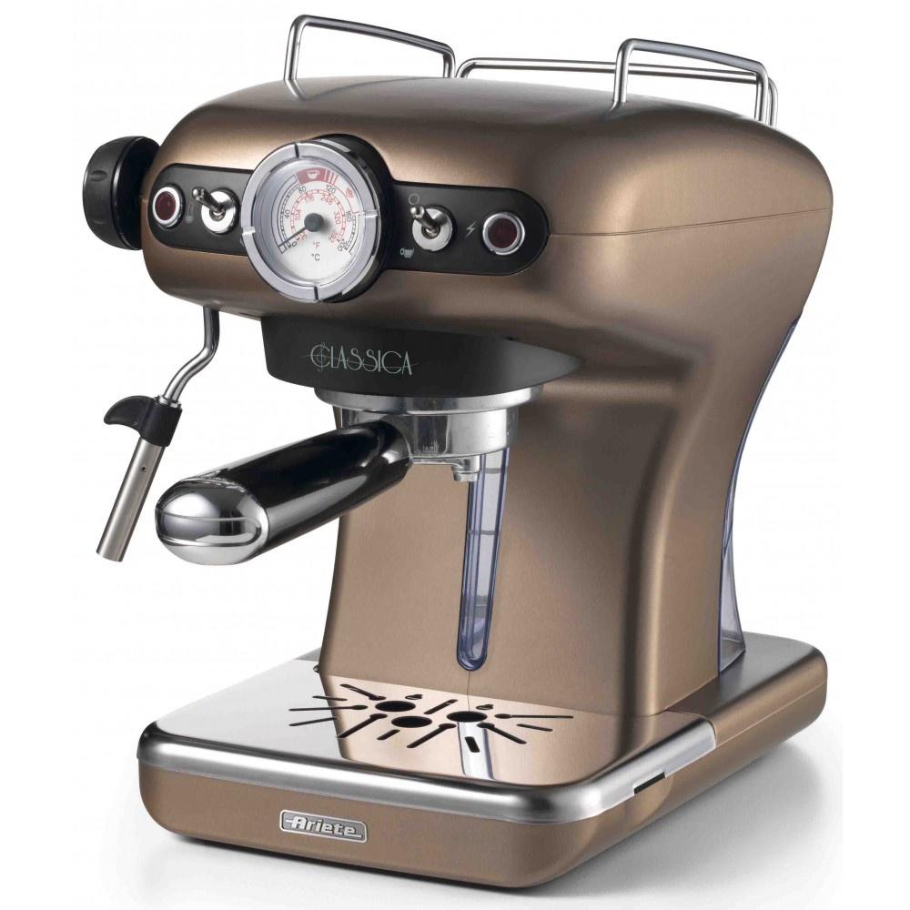 лучшая цена Рожковая кофеварка Ariete 1389/16 Classica, бронзовый