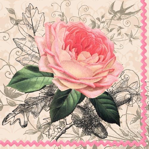 Салфетка 33*33 3-сл. Чайная роза 20 шт лакомство для собак wanpy dog утиные сосиски 100 г