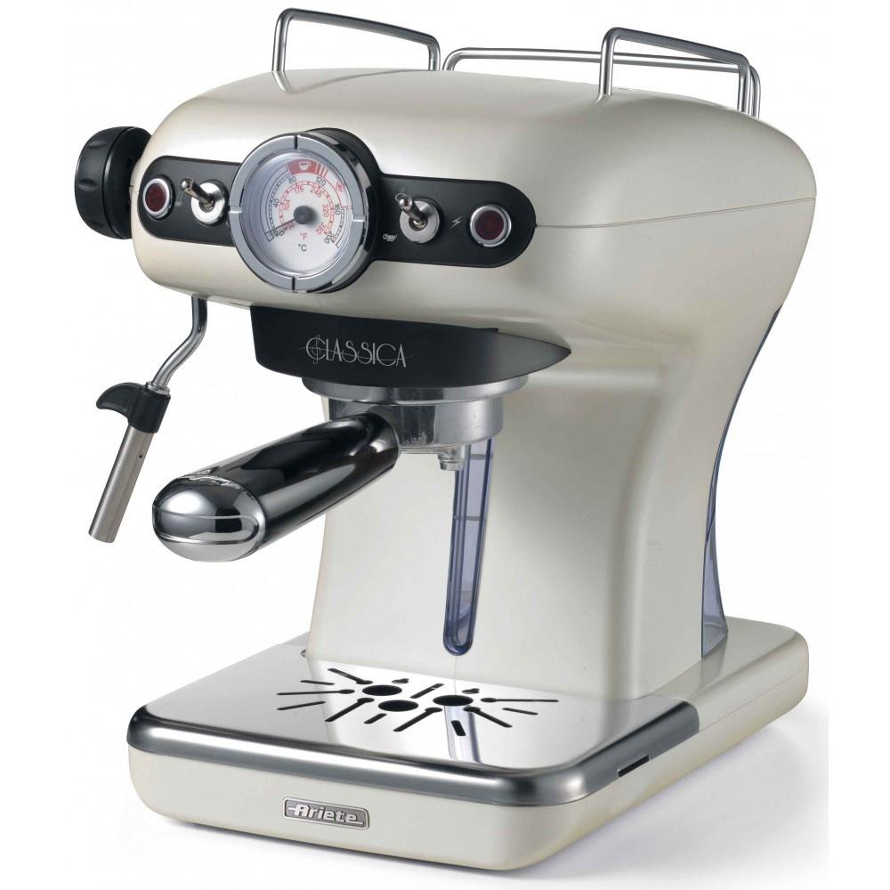 лучшая цена Рожковая кофеварка Ariete 1389/17 Classica, жемчужный