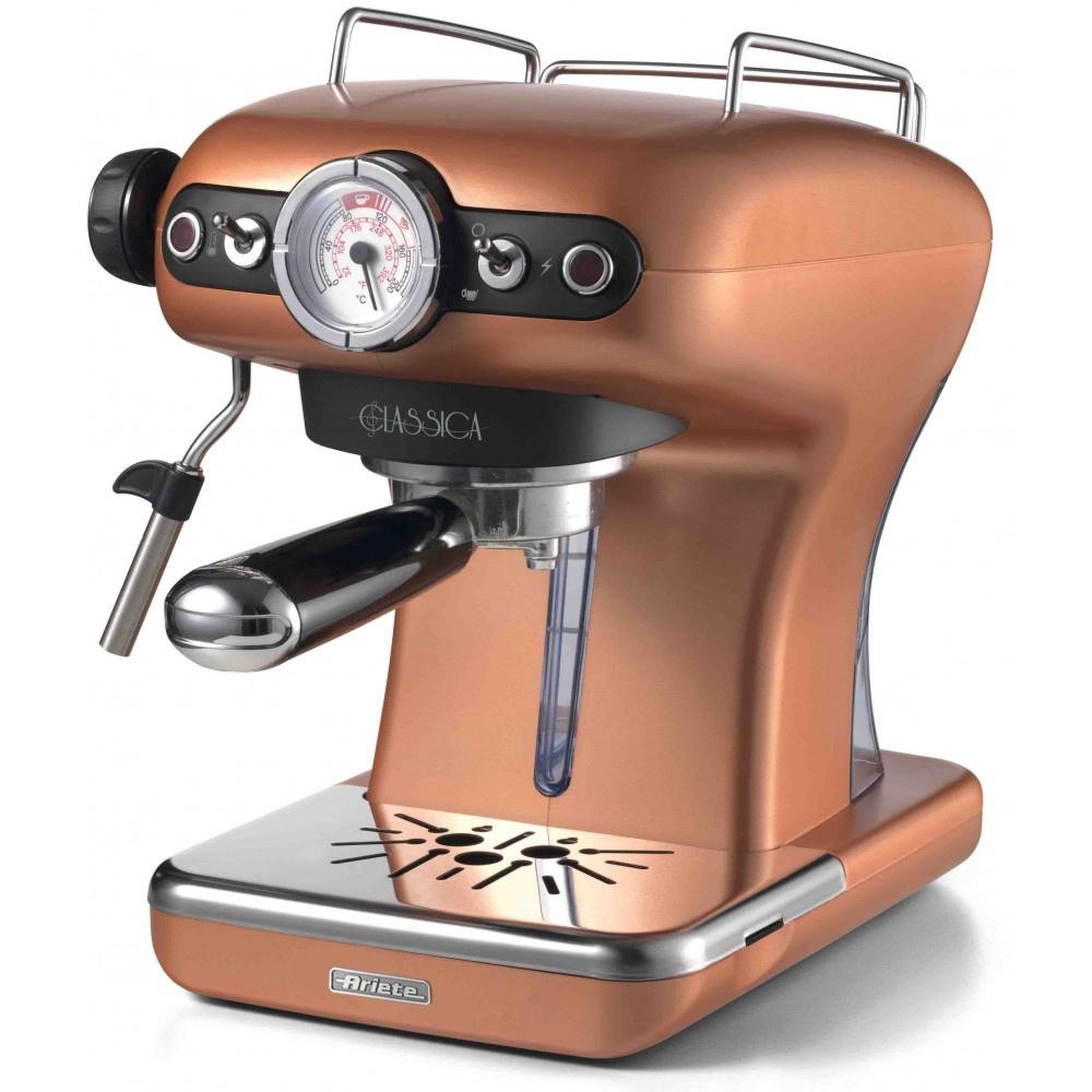 лучшая цена Рожковая кофеварка Ariete 1389/18 Classica, медный