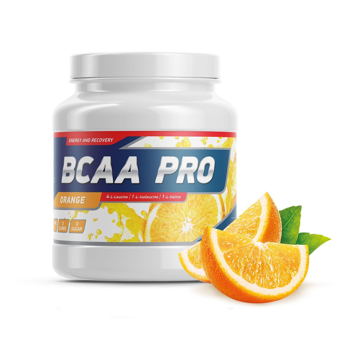 Комплекс аминокислот Geneticlab Nutrition BCAA PRO, со вкусом апельсина, 500 г