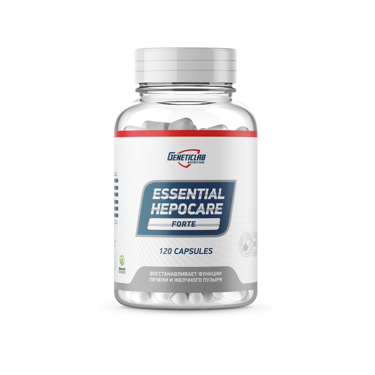 Витаминно-минеральные комплексы Geneticlab Nutrition Essential Hepocare, 120 капсул