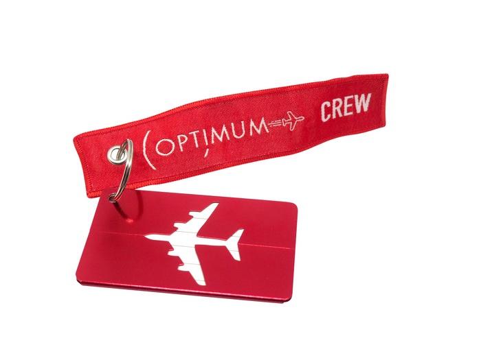 Бирка для багажа Optimum Air RBF (Красная)