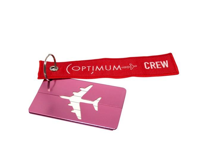 Бирка для багажа Optimum Air RBF (Розовая)