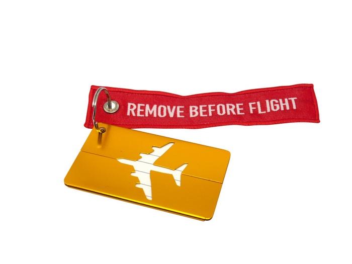 Бирка для багажа Optimum Air RBF (Желтая)