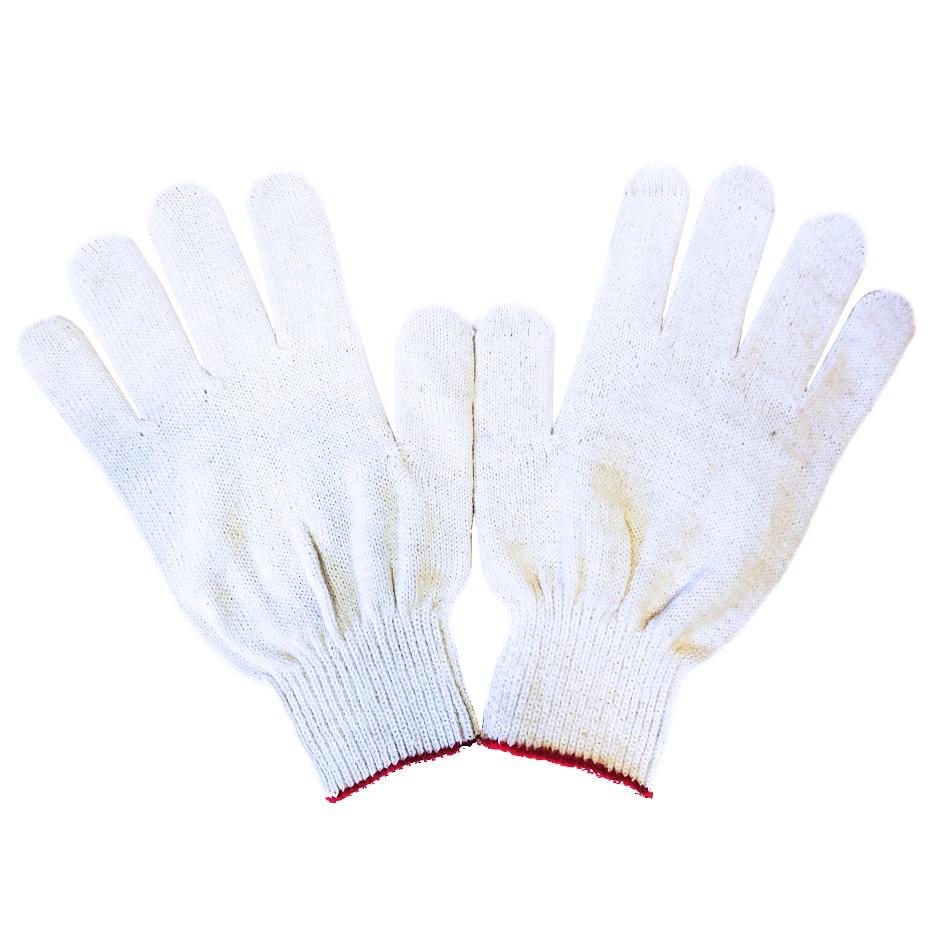 Перчатки хб защитные хлопковые 5 пар, 10 класс, белые, без ПВХ перчатки хб русский инструмент 67710 10 класс