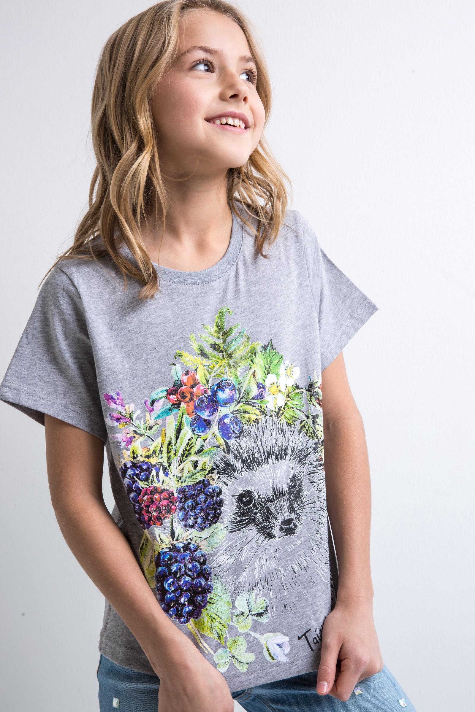 Футболка Trend valentino хлопковая футболка с принтом и пайетками