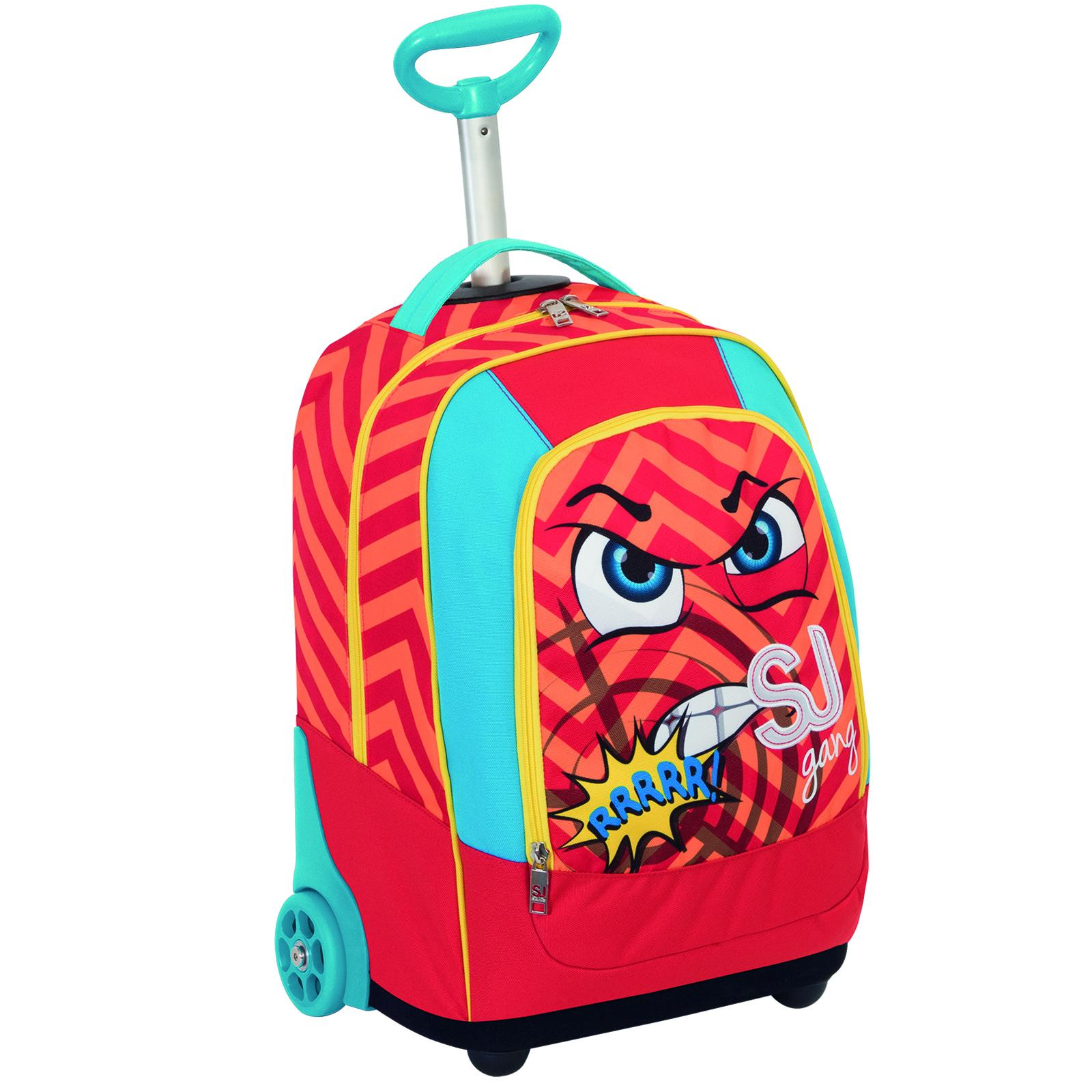 Рюкзак на колесиках BIG TROLLEY SJ GANG FACCE DA - Алое пламя