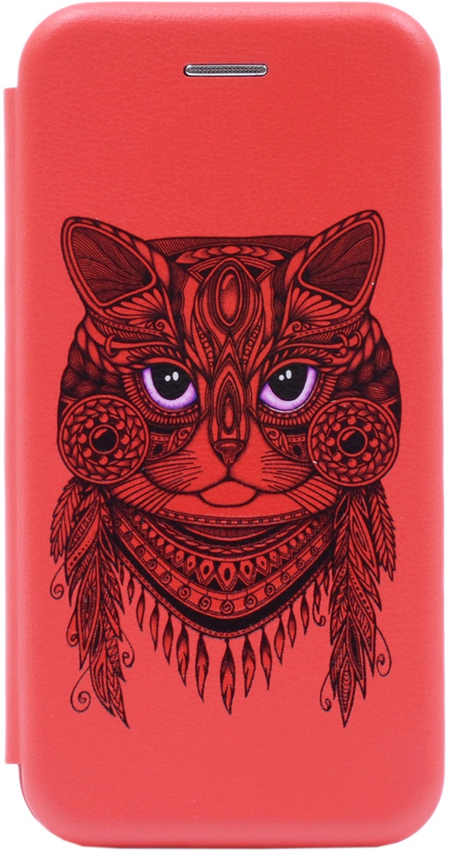 Чехол-книжка Book Art Jack Grand Cat для Huawei Honor 9 Lite красный GOSSO CASES