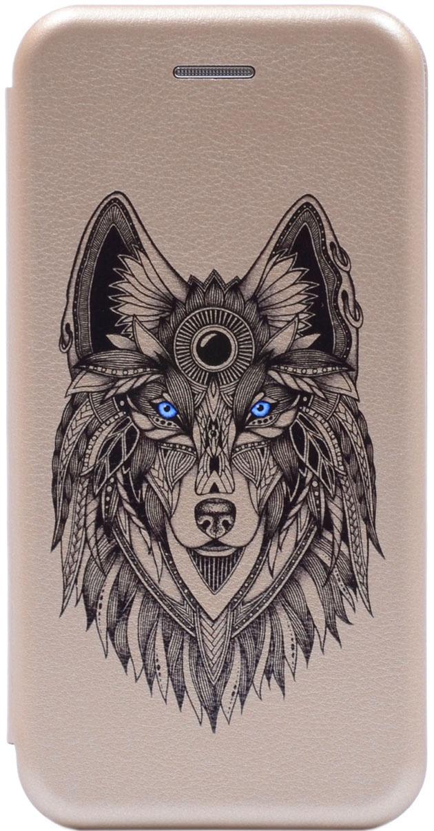 Чехол-книжка Book Art Jack Grand Wolf для Huawei Honor 9 Lite золотой GOSSO CASES