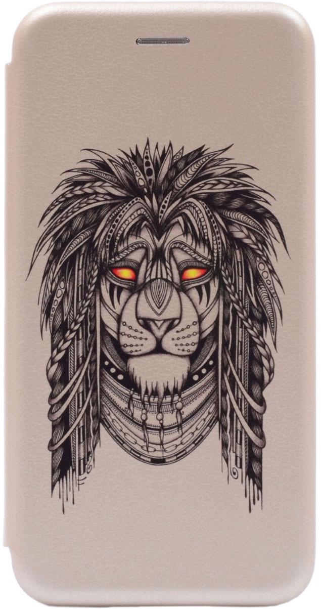 Чехол-книжка Book Art Jack Grand Leo для Huawei Honor 9 Lite золотой GOSSO CASES