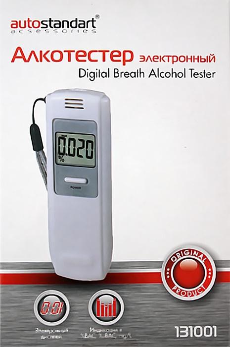 Алкотестер, AutoStandart, электронный, ЖК дисплей 131001