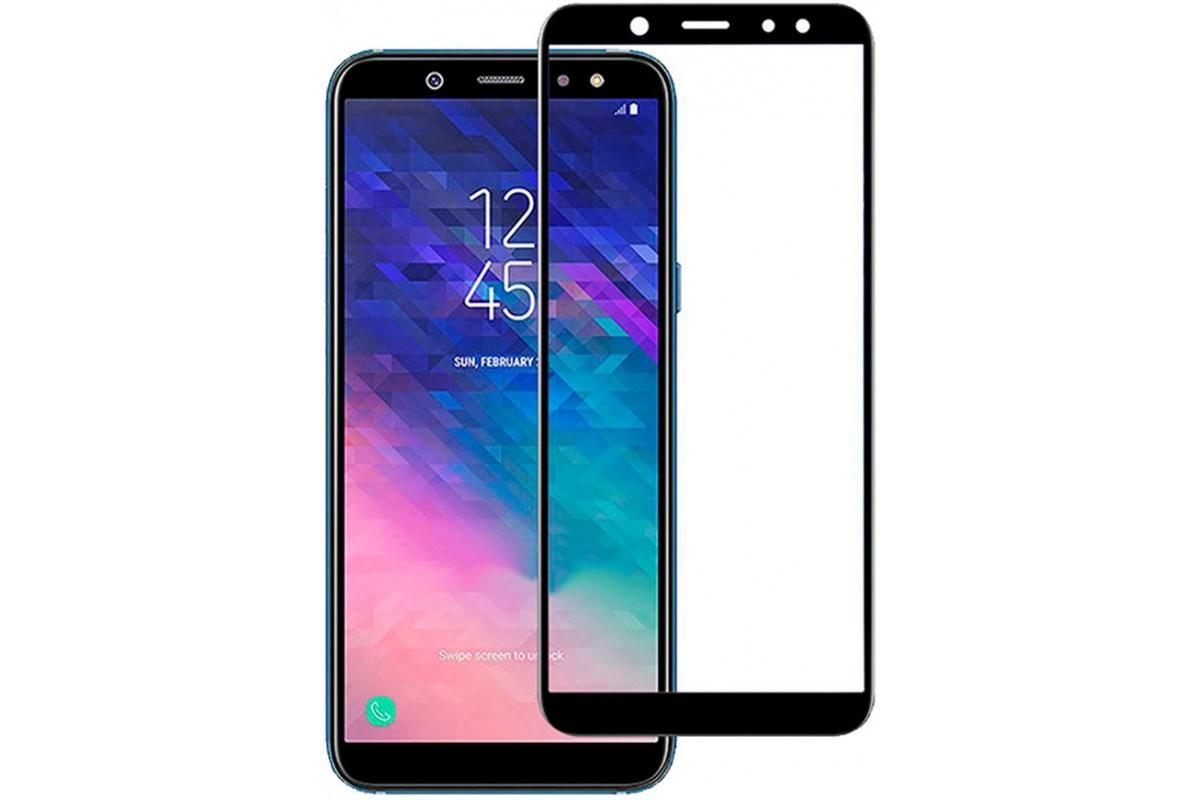 Защитное стекло TFN для Samsung Galaxy A6 2018 c черной рамкой