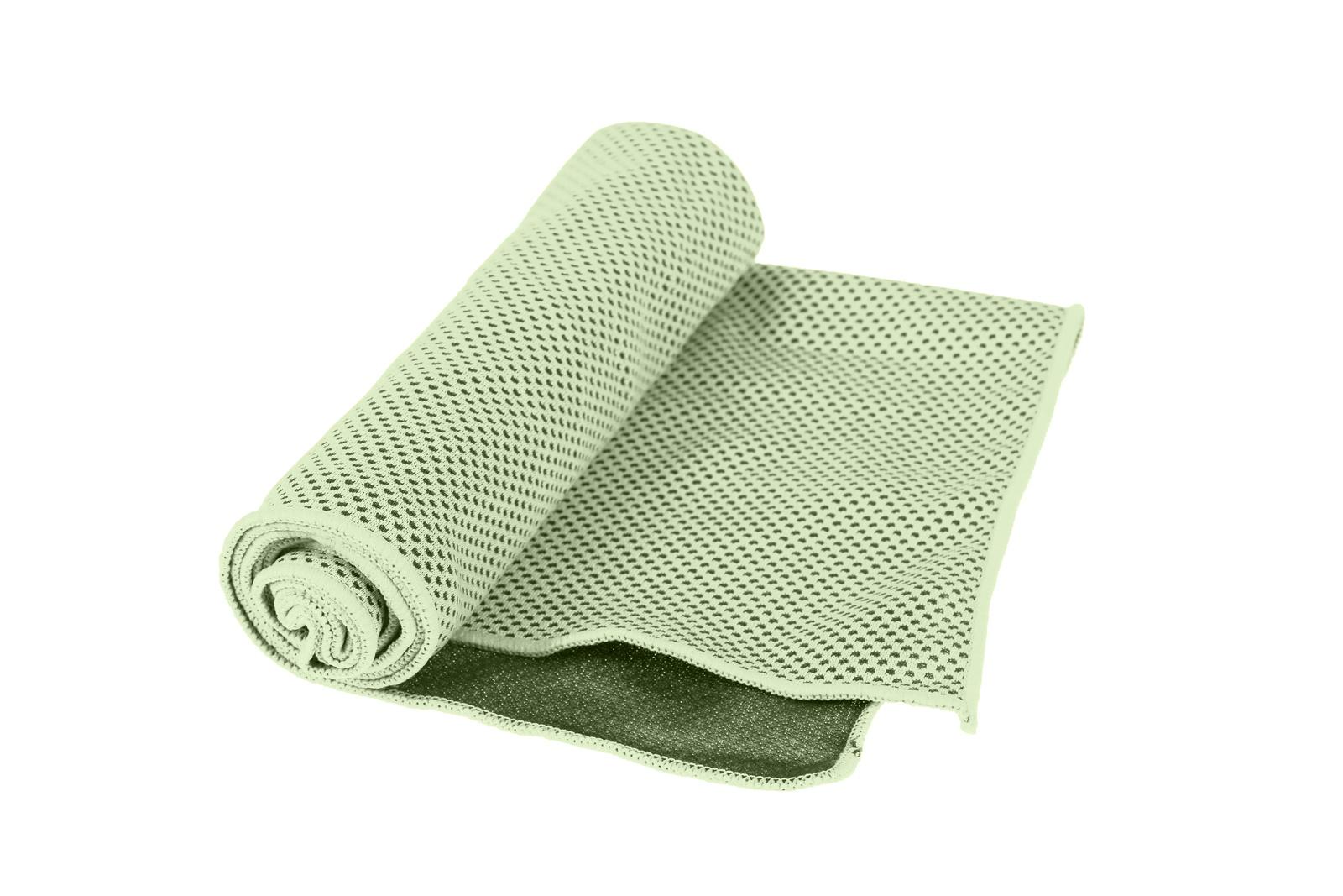 Полотенце охлаждающее в бутылке, зеленое